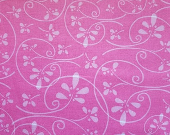 HH Pink Flower Swirl Fabric