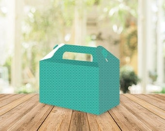 Printable Green Dots Gable box, Wedding favors, Bridal shower, personalized favors, wedding favors, party favors, birthday, baptism