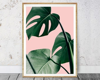 Monstera Print, Monstera Plant, Monstera Leaf Print, Monstera Wall Art, Digital Monstera, Monstera Leaf Art, Monstera Wall Print, Wall Plant