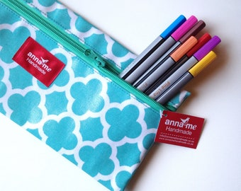 Aqua Blue Pencil Bag, Back to School Ready!, School Bag for Pencil, Pouch with Zipper Pouch for Pencils, Arts and Crafts for Kids