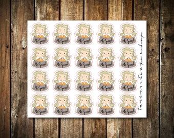 No Spend - Cute Blonde Girl - Functional Character Stickers
