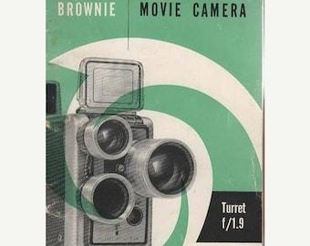 Brownie Movie Camera Turret f/1.9 Brochure Eastman Kodak Company