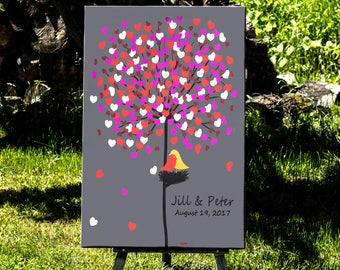 Guest Book Tree, Wedding Guest Book Tree, Personalized Wedding Guest Book, Canvas Wedding Guest Book, Wedding Guest Book Alternative