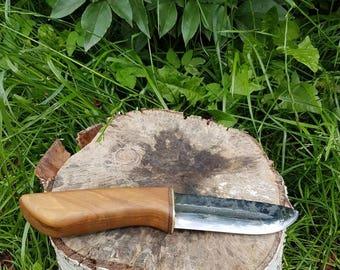 Hunting knife , length 25 cm., blade length 11,5 cm, width 3,8 cm.