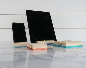 Tablet Stand, Wood Phone Stand, iPhone Stand, iPad Stand Wood, Cell Phone Stand, Docking Station, Cell Phone Holder, Wood Stand, Wood Gift