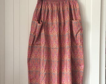 Vintage Liberty Mid Length Skirt - from the Liberty Plus Range - in a size 14-16