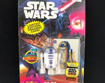 1993 JusToys, Star Wars Bendems R2-D2, with Topps Trading Card. NIP