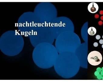 Jewelry ball, night bright, white, blue, red, green, 12 mm, 14 mm, 16 mm, 18 mm