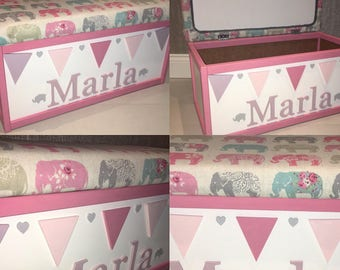 Personalised wopden toy box