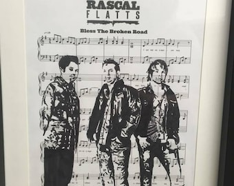 Rascal Flatts music sheet art