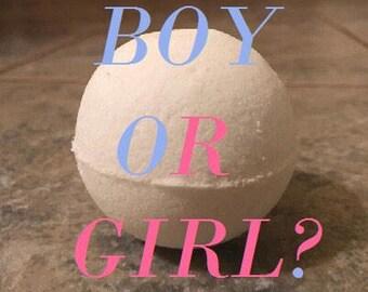 Homemade Gender Reveal Bath Bomb