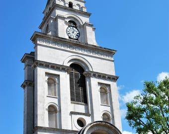 Hawksmoor Christ Church, Spitalfields, London, photo print, Townscape Photography, Picturesque print, England,