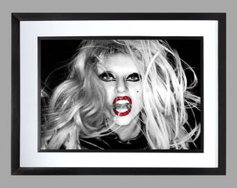 Lady GaGa Wall Art Print . Graphic . Home Art . Poster A3 size