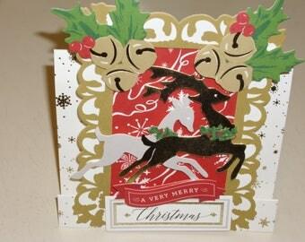 Christmas Reindeer Center Step Card