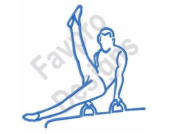 Male Gymnast - Machine Embroidery Design