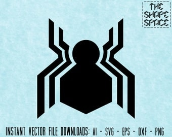Spiderman logo etsy spiderman homecoming logo instant vector download ai svg eps dxf png files digital stopboris Image collections