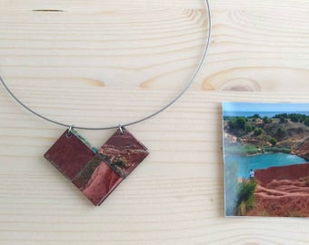 Recycled necklace taken from an image of Salento.