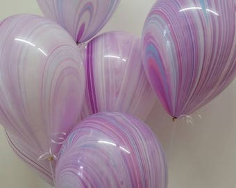 Pretty Marble Balloons, Pink, Purple, Marble effect, Pretty Balloons, Unicorn Balloons, Unicorn Party