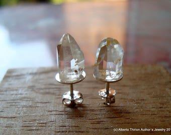topaz earrings stud earrings