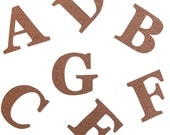 Cork Adhesive Letters in three sizes/ 5cm, 7.5cm, 9cm letters/ Stick on Cork Letters/ DIY Personalisation/ Wedding Signs/ Cork Name  Letters