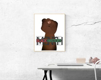 Printable Wall Art, Instant Download, Wall Decor, Black History Month