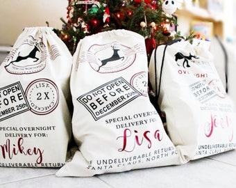 Christmas bag - Christmas Santa Sack - Santa bag - Santa sack - Christmas Santa - Personalized Santa Sack - Personalized Santa Bags -