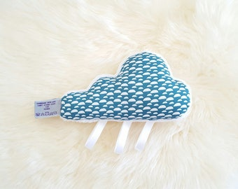 Cloud blue and white blanket