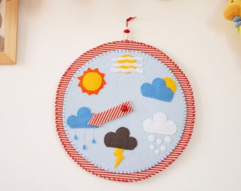 the time clock:-game timepiece made of felt and synthetic felt