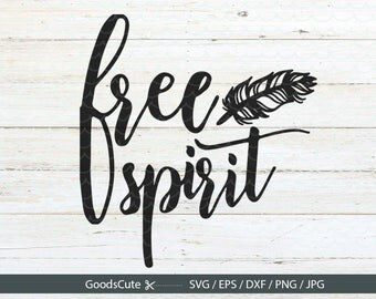 Free Spirit SVG Feather SVG Tribal SVG Heat Transfer File Clip art Vector file for Silhouette Cricut Cutting Machine Design Download Print