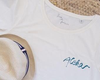 T-shirt organic Aloha T-shirt for women 100% organic cotton and inks