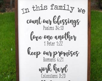 Family Rules Sign | Christian Values sign | Family Values | Gift for Her | Rustic Sign | Family Rules Wood Sign | Farmhouse Sign | Mom Gift