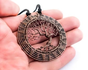 Tree of life necklace wire wrapped jewelry silver tree pendant family tree necklace tree of life pendant copper pendant wire wrapped jewelry mother day publicscrutiny Image collections