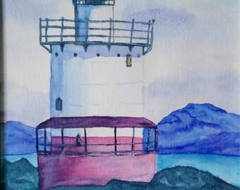 Original watercolor. Lighthouse