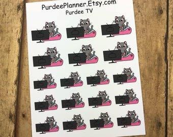 Purdee TV. Planner Stickers, Erin Condren, Recollections, Happy Planner, Cute Stickers, ECLP, Fun.