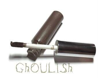 Ghoulish Liquid Lipstick, Liquid to Matte Lipstick, Transfer-Proof, Vegan and Cruelty Free Cosmetics, Brown Lipstick, Goth Lipstick