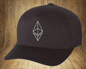 Ethereum Crypto Currency Hat! Flex Fit, Raised Logo! Very nice