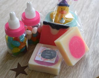 Baby shower soap favours