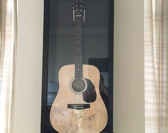 Guitar Display Case Solid Hardwwod Acoustic Guitar Display Case