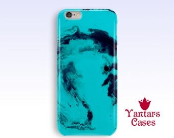Turquoise iphone 6 case Abstract phone case for men Abstract iPhone case 5s iPhone 7 case Marble iPhone 6 case iPhone 5 case Gift for him