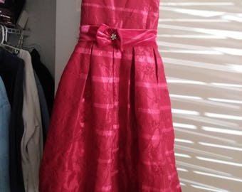 Beautiful Girls Red Dress w/Petticoat sz 14