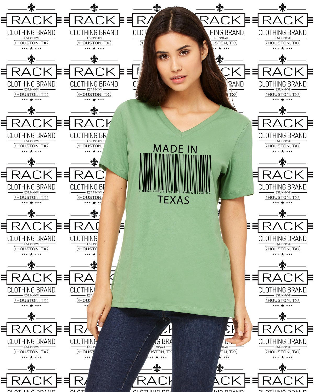 Made in texas women 39 s relaxed fit v neck t shirt with a Relaxed fit women s v neck t shirt