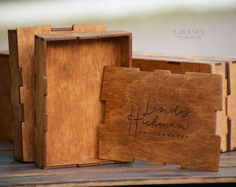 Personalized box Engraved gift box Gift box Wedding box Wooden box Personalized wedding box Rustic wedding decor Packaging for photographers