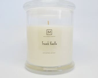 FRENCH VANILLA | Soy Wax Candle | Glass Container