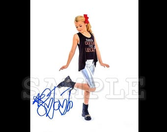 JoJo Siwa signed 8x10 Autograph RP - Great Gift Idea!! - Ready to Frame and Display photo picture