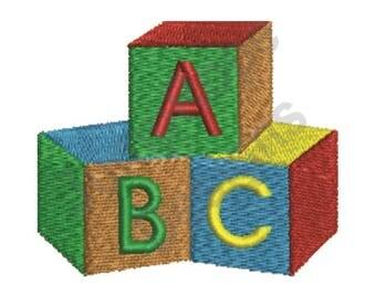 Baby Blocks - Machine Embroidery Design