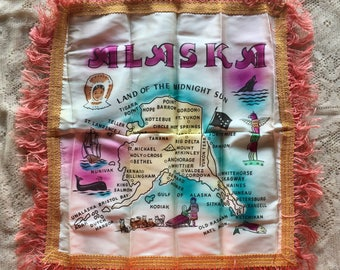 1950's Alaska Pillow Case w/ original mailing envelope and hand written letter