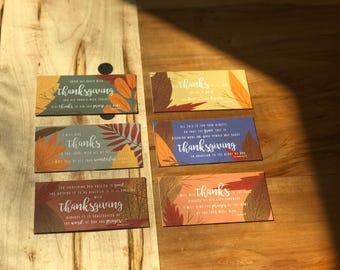 Thanksgiving Bundle - Set of 6 Original Scripture/Place Cards