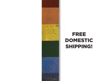 Gay Pride Wall Hanging, Rainbow Flag Wood Wall Hanging, Farmhouse Style Gay Pride Art, LGBT Wall Hanging, Rustic Gay Pride Decor, Gay Gift