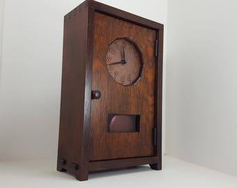 Mission Style Craftsman Mantle Clock