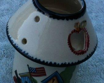 Crazy Mountain ceramic candle holder